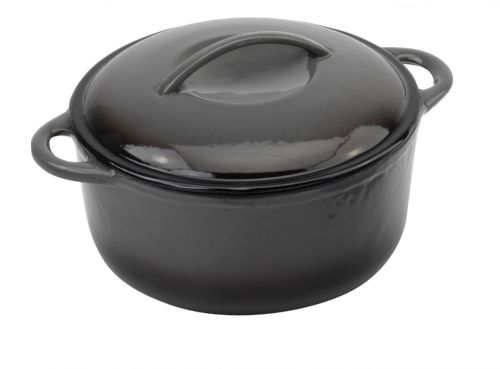 Provencale Round Casserole & Cover Black - MORE OPTIONS